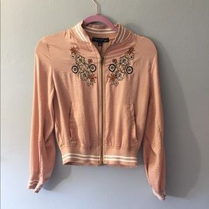 Pink light bomber jacket